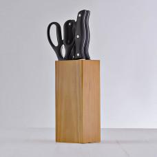 Juego de 7 piezas cuchillos y bloque Natural Novo