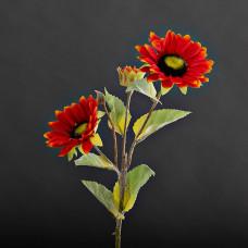 Juego de 2 flores Girasol con botón Haus