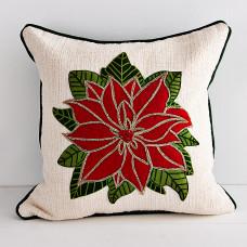 Forro para cojín Aplique Flor de Navidad Haus
