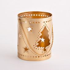 Farol portavotiva con agarradera Árbol de Navidad Haus