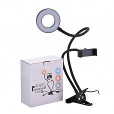 Aro de luz con soporte para celular / escritorio
