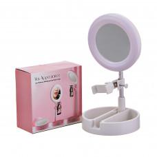 Aro de luz con soporte para celular y espejo