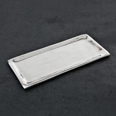Plato Porta toalla de papel de baño Ceja Angosta Peltre
