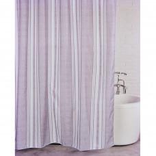 Cortina para baño con 12 ganchos Líneas Novo