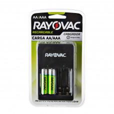 Cargador de pilas 4 AA / 4 AAA con 2 pilas recargables AA Rayovac