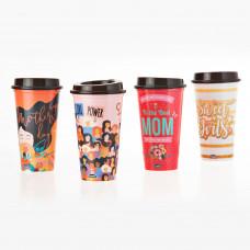 Vaso con tapa para café Mamá Surtido Plasútil