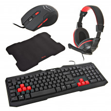Teclado con Audífonos / Mouse / Mouse Pad Gaming Ziva Trust