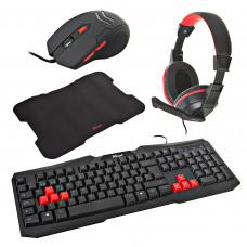 Teclado con Audífonos / Mouse / Mouse Pad Gaming Ziva Trust