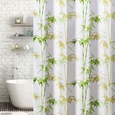 Cortina de baño con ganchos Bamboo Haus