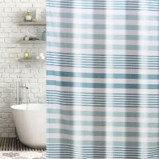 Cortina de baño con ganchos Líneas Haus