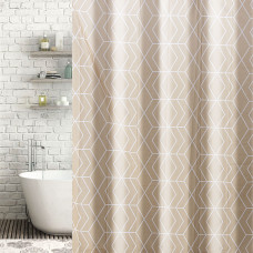 Cortina de baño con ganchos Geométrico Haus
