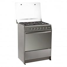 Ecoline Cocina a gas 5 quemadores con Termocontrol / Grill Silver Isabela