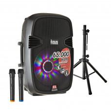 "Parlante para fiesta 15"" con Batería / 40000W PMOP / BT / USB / Trípode / Micrófono inalámbrico"