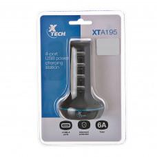 Estación carga 4 USB 6A XTA-195 Xtech