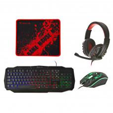 Combo Teclado + Mouse + Audífonos gaming CM-406