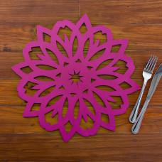 Plato base de madera Mandala