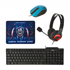 Combo Teclado + Mouse + Audífonos + Mouse pad gaming K30