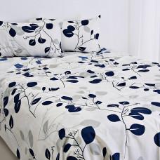Juego de sábanas Hoja Azul