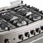 Teka Cocina a gas 6 quemadores con encendido eléctrico + plancha grill 76cm FSGG 8660 S RX