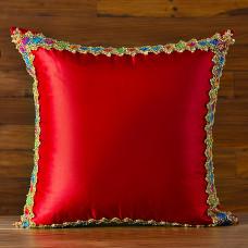 Forro para cojín Cinta Multicolor Tafetán Poma Rosa