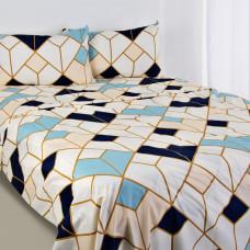 Juego de sábanas Geométrico Azul
