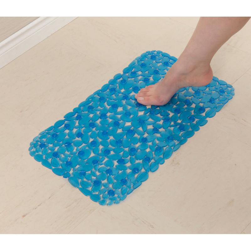 Alfombra con antideslizante para ducha Azul