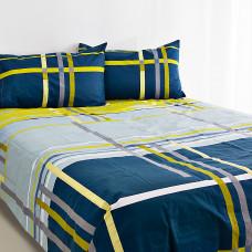Juego de sábanas Azul / Gris