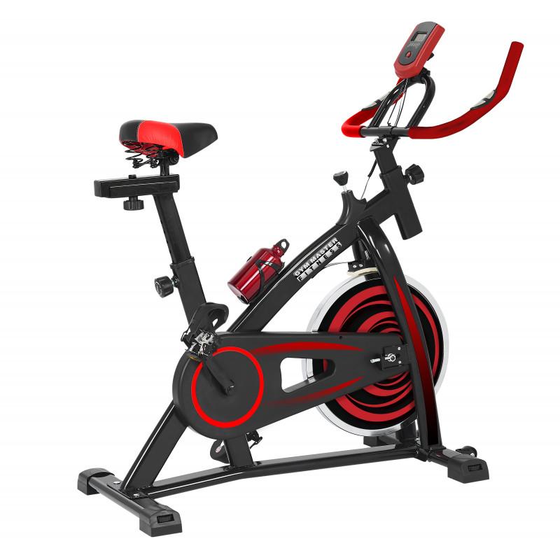 Bicicleta Spinning 13kg con monitor de Velocidad / Tiempo / Distancia / Calorías / Pulso GM98530