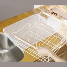 Escurridor para platos con agarraderas Blanco