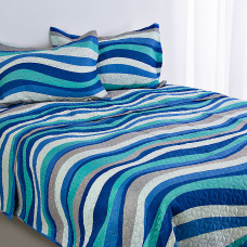 Juego de cubrecama Mar Azul
