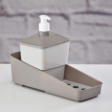 Dispensador para jabón de cocina con porta esponja Plasútil
