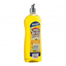 Jabón líquido para platos Concentrado Vinagre / Limón amarillo 750ml Binner