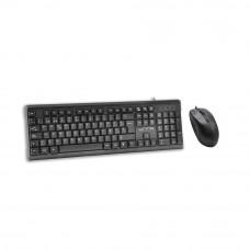 Teclado con mouse USB KB6721BK Unno