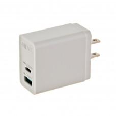 Cargador para pared con puerto Tipo-C / USB 20W PLM323C VIDVIE