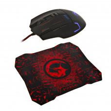 Mouse gaming 7200DPI / 8 botones + Mouse pad gaming G909L+G1 Marvo