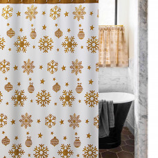 Cortina de baño Copos Dorados Bonnie Haus