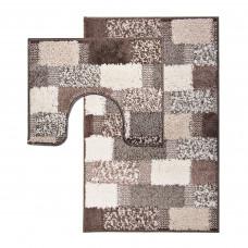 Juego de 2 alfombras para baño con antideslizante Cuadros Asso Emmevi