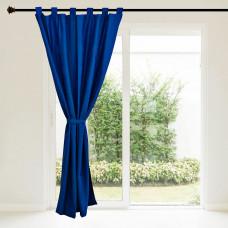 Cortina Jacquard con amarre Azul Ecca
