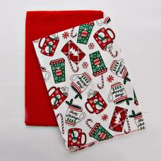 Juego de 2 limpiones Rojo / Christmas Mug Haus