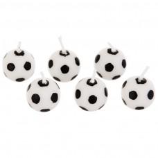 Juego de 6 velas balón Fútbol Wilton