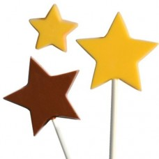 Molde para chupetes de chocolate Estrellas Chocomaker