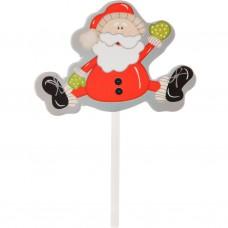 Juego de 12 apliques para cupcakes Papá Noel