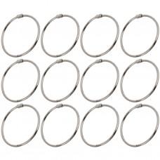 Juego de 12 ganchos de metal para cortina Chrome Maytex Mills