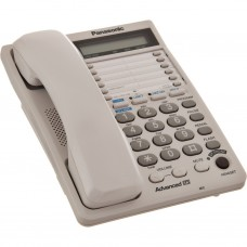 Teléfono alámbrico doble línea KX-TS208LXW Panasonic