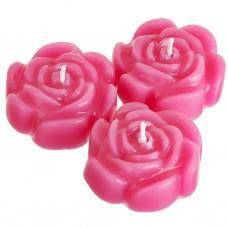 Juego de 3 velas Tealight Rosas Infinity
