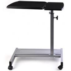 Mesa para laptop ajustable con ruedas