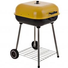 BBQ a carbón con tapa y ruedas
