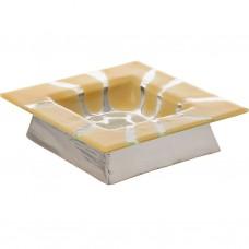 Cevichera de vidrio con soporte Bolek