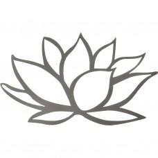 Aplique para pared Flor 40x55cm acero Makadamia