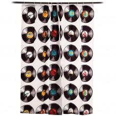 Cortina de baño con ganchos 100% poliéster Albums